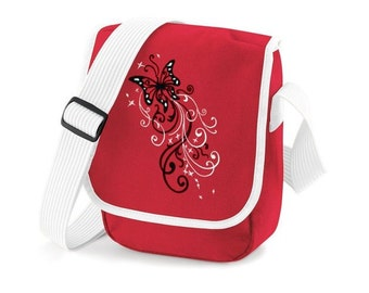 Embroidered Butterfly shoulder bag
