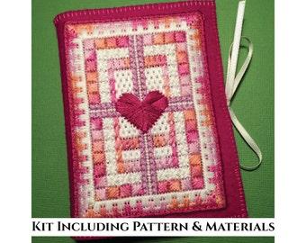 Canvaswork Embroidered Needlecase Kit - Braided Heart - KIT