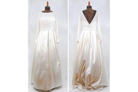 Classic Wedding Dress Satin: 1980s 80s Vintage House Of Bianchi White Burnout Velvet