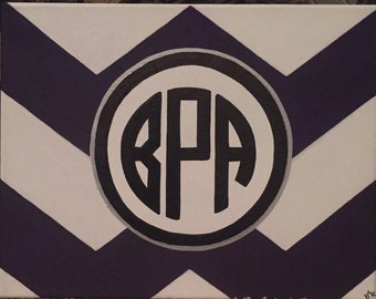 Monogram Chevron Canvas