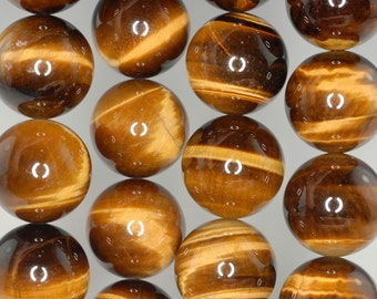 18mm Cognac Tiger Eye Gemstone Grade AAA Round Loose Beads 7.5 inch Half Strand (90186166-83)