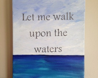 WordArt acrylic painting on canvas