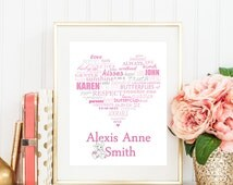 Precious Moments Typography Print, Personalized  Newborn Gift, Nursery Room Art, Baby Shower Gift, Baby Girl Gift
