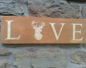 LOVE Deer Sign