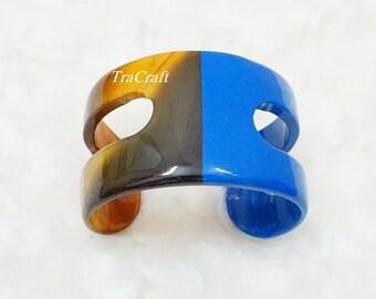 Horn & Lacquer Cuff Bracelet - V2L