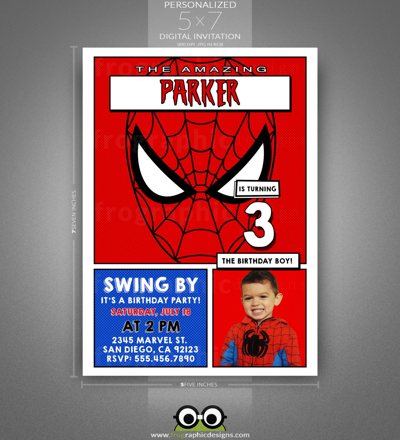 spider man birthday invitation template