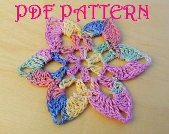 Crochet Flower PDF Pattern San Paulo