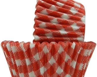 Red Gingham - Baking Cupcake Liners - 50 Count
