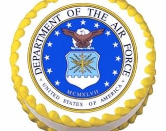 "Air Force Logo - Edible Image - 6 1/4"""