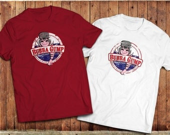 Forrest Gump movie inspired T-Shirt, Bubba Gump Shrimp and co Tee.