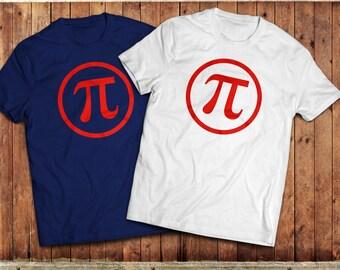 Pi symbol T-Shirt, Science Geek, Nerd, Mathematics shirt. Pi Day