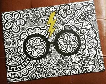 HP Glasses and Lightning Bolt