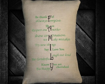 "Family Meaning  12""x16"" Pillow Set"