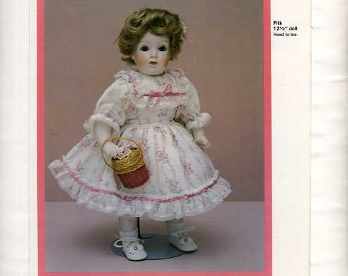 FREE usa SHIP Byron Doll Pattern 1980's 35 Grace Corry Rockwell Fits 12.5 Old Store Stock Sewing Pattern