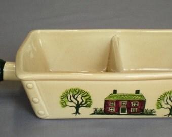 Metlox Poppytrail Homestead Provincial Divided Vegetable Bowl Vintage 1950-82