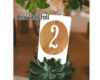 Real Foil Table Number