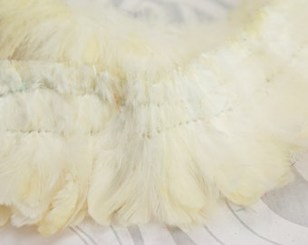 """Natural white strung plumage feathers 2"""" - 3"""""""
