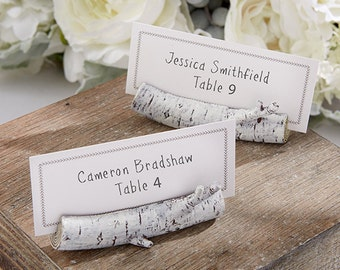 Rustic Birch Branch Place Card Holders (Set of 12)
