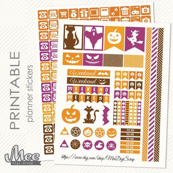 Kids Calendar Stickers : October halloween stickers decorative functional