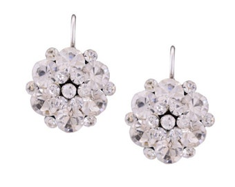 Clear Crystal Cluster Earring