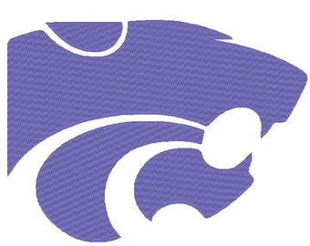 Kansas State Wildcats Embroidery Design.  3 Large Hoop Sizes