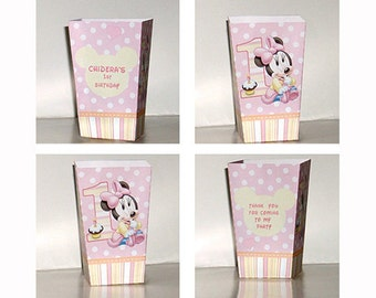 Baby Minnie mouse POPCORN BOXES (Set of 10)