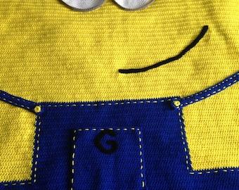 Crochet yellow or purple minion blanket