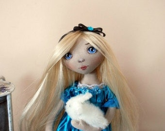 "OOAK Art Doll ""Alice in Wonderland"""
