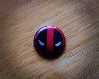 "Marvel DeadPool Pin Button 1"""
