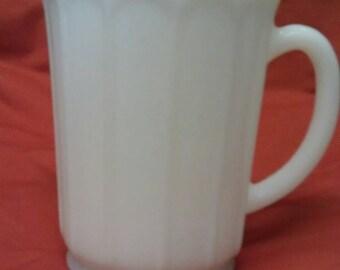 Hazel Atlas  Glass Opal Milk Pitcher