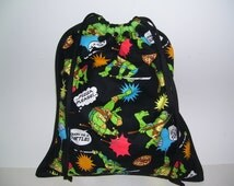 LOVELY CARRYING BAGS - ninja turtles pattern design - no.1