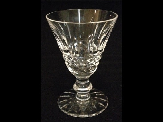 "FREE SHIPPING-Gorgeous-Waterford-Crystal-Tramore-Cut Base-Criss Cross-Vertical Lines-Cut Base-2 7/8"" Tall-Cordial-Glass"