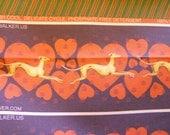 Jane Walker Design Heart Hound Collar Fabric Strip SH-HeartFawn