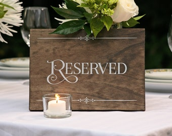 """Rustic Chic Wedding """"Reserved"""" Wood Sign for your Country, Farm, Western, Outdoor, Garden, Urban Wedding or Wedding Reception"""
