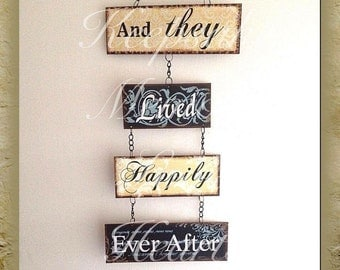 And they lived happily ever after vintage sign