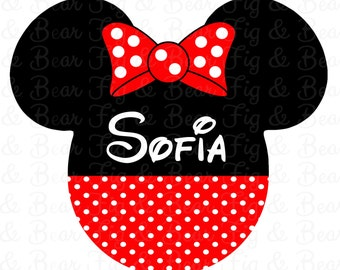 Disney Personalized Minnie Mouse Shirt Iron On Transfer Personalized Free for Girls