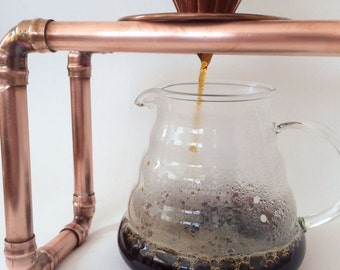 Hand Dripper Copper Pipe Coffee Stand Made in UK
