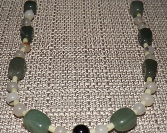 """17"""" Malaysia and Green Jasper Necklace"""
