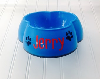 Dog Decals Dog Bowl Decals Personalized Dog Bowl Stickers Cat Decal Stickers Personalized Cat Decal - Does Not Include Bowl