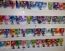 Smash Brothers Amiibo Set . All 58 Smash Amiibo Wall Display/Stands/ Mount FREE SHIPPING! All DLC Included!