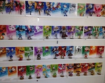 Smash Brothers Amiibo Set . All 58 Smash Amiibo Wall Display/Stands/ Mount FREE SHIPPING! All DLC Included!