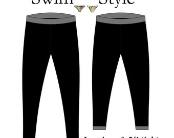 Leggings & 3/4 tights pdf sewing pattern Women s Multi size