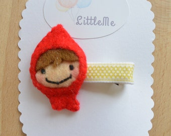 Red riding hood hair clip