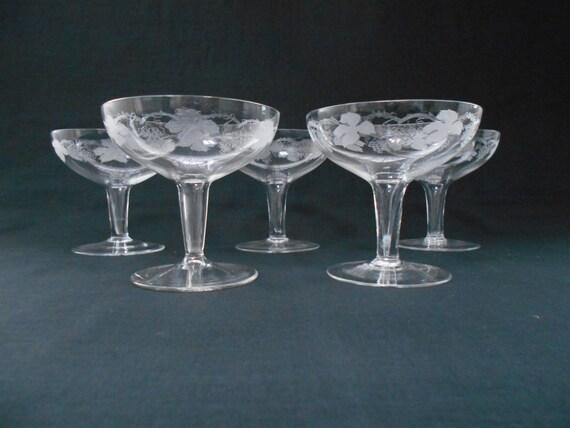 Vintage bohemia crystal hollow stem champagne by highteaheaven - Hollow stem champagne glasses ...
