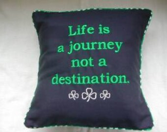 Embroidered Journey Pillow