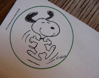 SALE! Cute Vintage Snoopy NotePaper  - 80s - Carinissima Carta da lettere Vintage di Snoopy