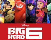 Big Hero 6 Movie Poster FRIDGE MAGNET