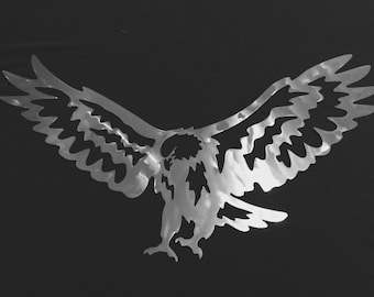 Eagle Landing Metal Wall Art