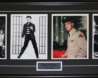 Elvis Presley The King of Rock and Roll 4 photograph frame