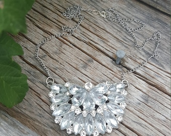 Large Crystal Statement Piece Necklace